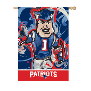 New England Patriots Mascot House Flag