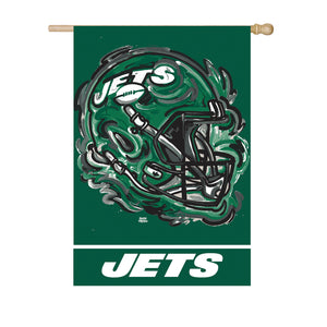 New York Jets Mascot House Flag