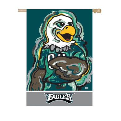 Philadelphia Eagles Mascot House Flag