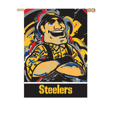 Pittsburgh Steelers Mascot House Flag