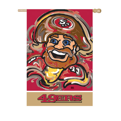 San Francisco 49ers Mascot House Flag