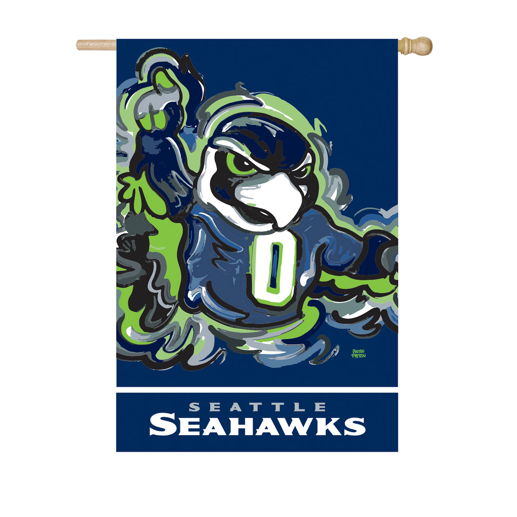 Seattle Seahawks Mascot House Flag