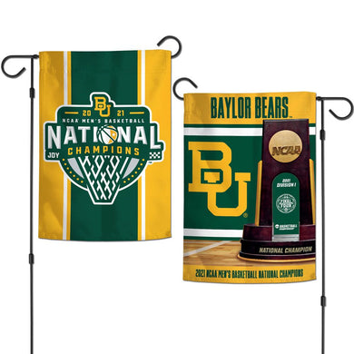 Baylor Bears 2021 NCAA Men's Basketball National Champions 2 Side Garden Flag