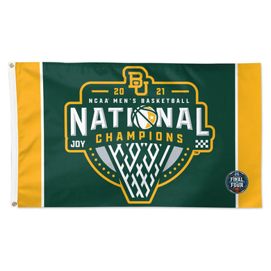 Baylor Bears 2021 NCAA Men's Basketball National Champions Deluxe Flag -3'x5'