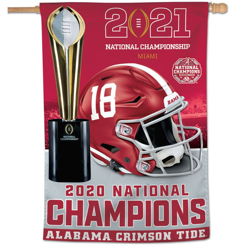 Alabama Crimson Tide 2020 CFP National Champions Vertical Flag