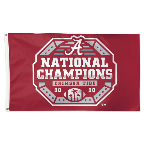 Alabama Crimson Tide 2020 CFP National Champions Deluxe Flag -3'x5'