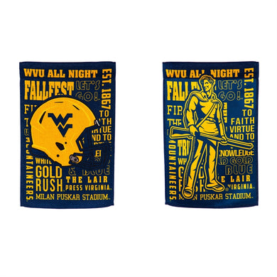 West Virginia Mountaineers 2 Sided Garden Flag