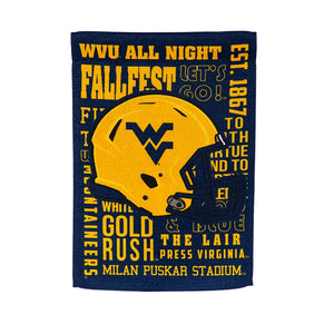 West Virginia Mountaineers Fans Rule 2-Side House Flag