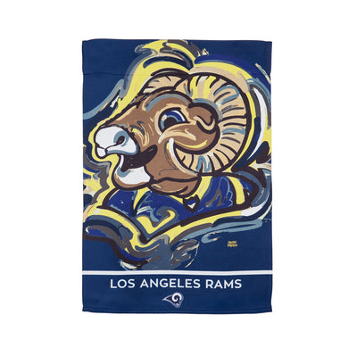 Los Angeles Rams Mascot House Flag