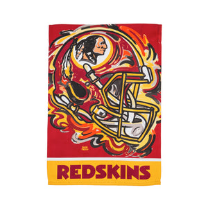 Washington Redskins Mascot House Flag