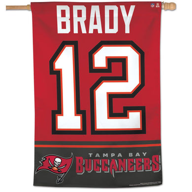 Tom Brady Tampa Bay Buccaneers #12 Jersey Vertical Flag