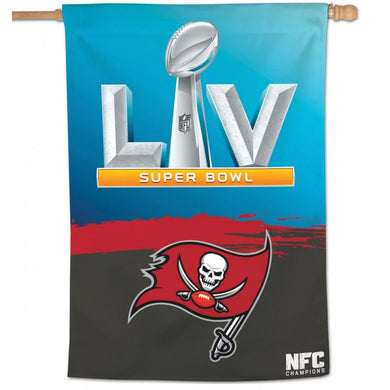 Tampa Bay Buccaneers 2020 NFC Champion SB LV Vertical Flag