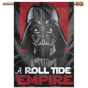 "Alabama Crimson Tide Star Wars Darth Vader Vertical Flag 28""x40"""