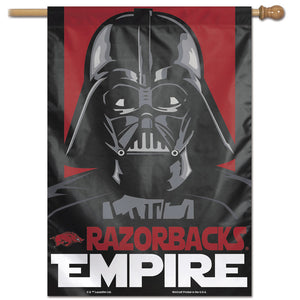 Arkansas Razorbacks Star Wars Darth Vader Vertical Flag