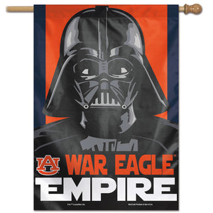 "Auburn Tigers Star Wars Darth Vader Vertical Flag 28""x40"""