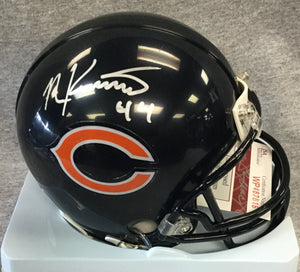 Nick Kwiatkoski Chicago Bears Signed Mini Helmet JSA
