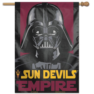 "Arizona State Sun Devils Star Wars Darth Vader Vertical Flag 28""x40"""