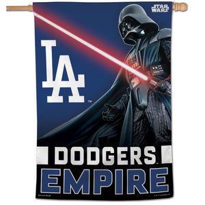 "Los Angeles Dodgers Star Wars Darth Vader Vertical Flag - 28""x40"""