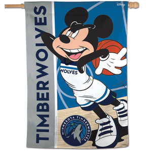 "Minnesota Timberwolves Mickey Mouse Vertical Flag 28""x40"""