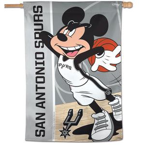 "San Antonio Spurs Mickey Mouse Vertical Flag 28""x40"""