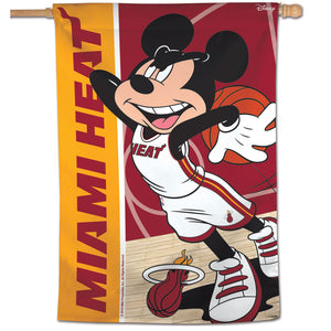 "Miami Heat Mickey Mouse Vertical Flag 28""x40"""