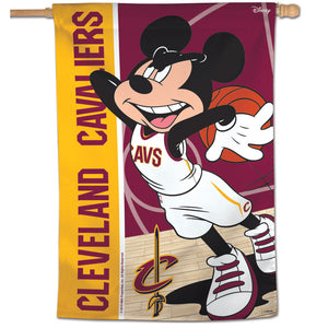 "Cleveland Cavaliers Mickey Mouse Vertical Flag 28""x40"""