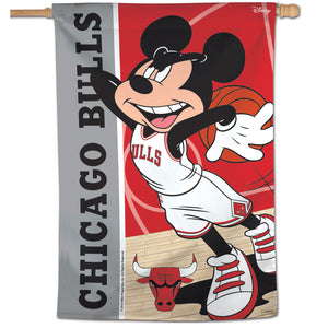 "Chicago Bulls Mickey Mouse Vertical Flag 28""x40"""