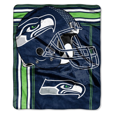 Seattle Seahawks Raschel Touchback Design Blanket - 50