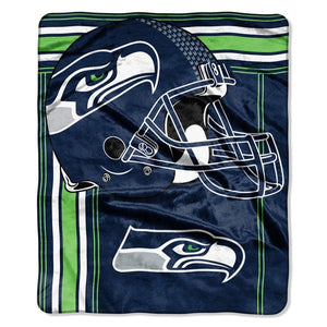 "Seattle Seahawks Raschel Touchback Design Blanket - 50""x60"""