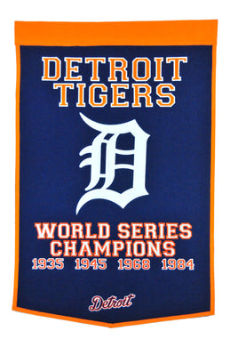 detroit tigers world series champions wool dynasty banners