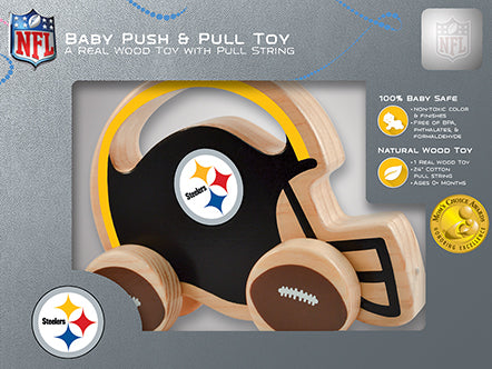 Pittsburgh Steelers Baby Push and Pull Toy, NFL Kids Toys