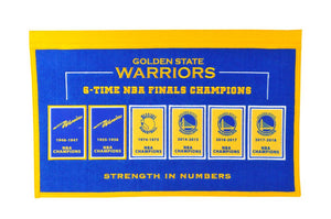 "Golden State Warriors Rafter Raiser Banner- 22""x14"""