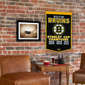 "Boston Bruins Dynasty Champions Wool Banners - 24""x36"""