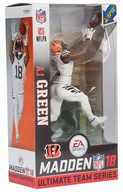 Football memorabilia AJ Green Bengals Madden 18 action figure from Sports Fanz