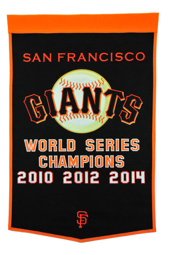 San Francisco Giants Dynasty Champions Wool Banners - 24