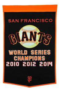 "San Francisco Giants Dynasty Champions Wool Banners - 24""x36"""
