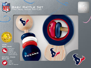 Houston Texans Baby Rattles Set, NFL Baby Rattles