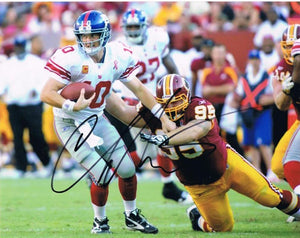 wvu football, chris neild autograph, washington redskins