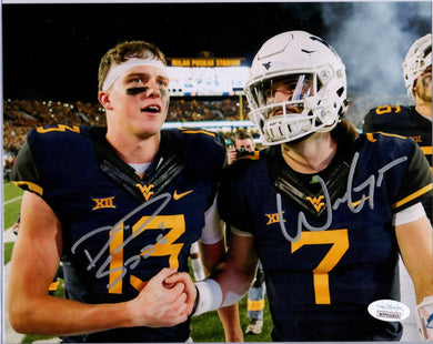 will grier autograph, will grier signature, will grier west virginia mountaineers, david sills autograph, david sills signature