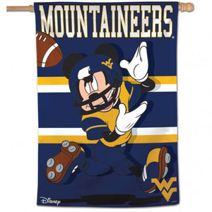 wvu football, wvu mickey mouse house flag, wvu mickey mouse flag