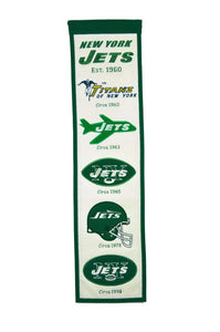 "New York Jets Heritage Banner - 8""x32"""
