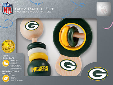 Green Bay Packers Baby Rattles Set, Baby Rattles, NFL