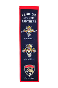 "Florida Panthers Heritage Banner - 8""x32"""