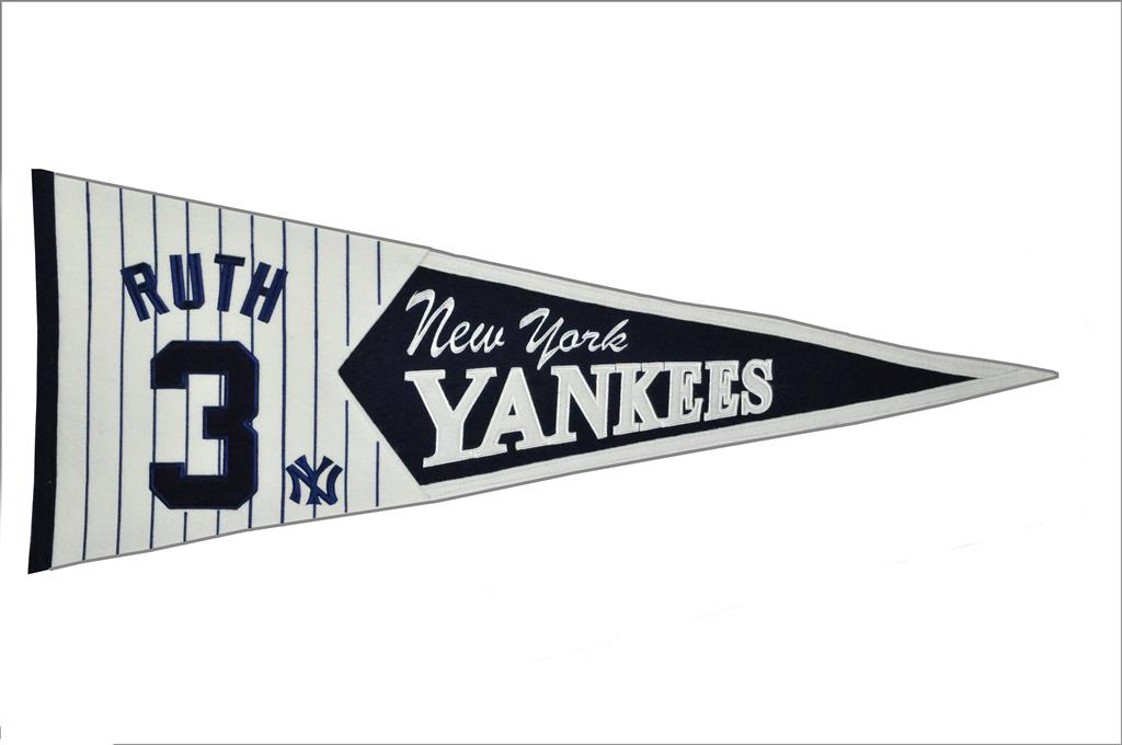 Babe Ruth New York Yankees Legends Pennant