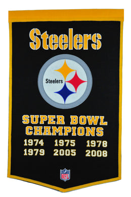 pittsburgh steelers super bowl champions dynasty wool banner