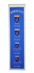 "Kansas City Royals Heritage Banner - 8""x32"""