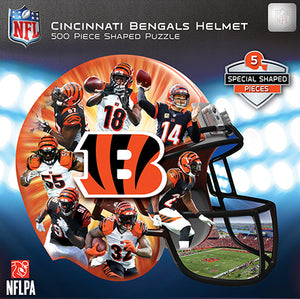 54448cdf Cincinnati Bengals Football Helmet Shaped Puzzle -500 Piece