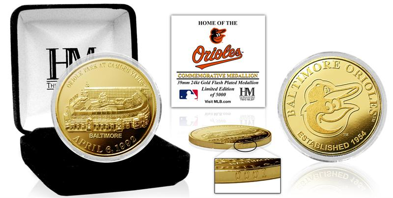 Baltimore Orioles Stadium Gold Mint Coin