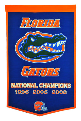 Florida Gators Dynasty Wool Banner - 24