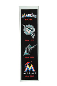 "Miami Marlins Heritage Banner - 8""x32"""